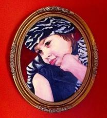Caroline zebra hat/acrylic