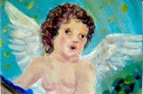 Cupid/mural detail