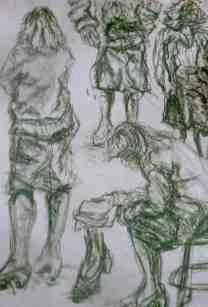 clothed green/charcoal