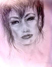 lady in dark/pencil
