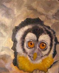 Owlkey/acrylic