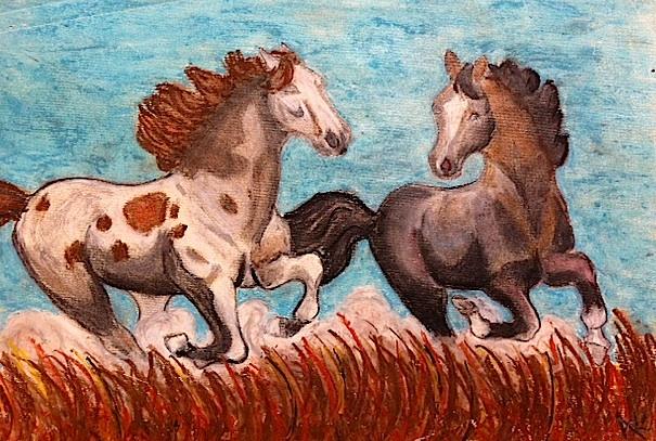 pastel horses