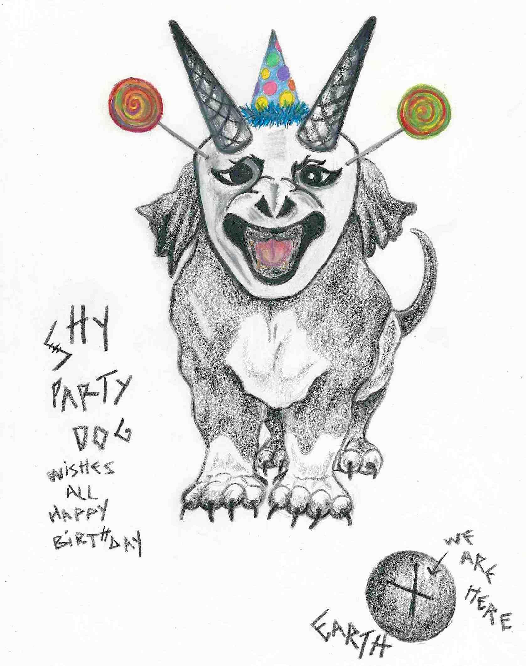 shy party dog