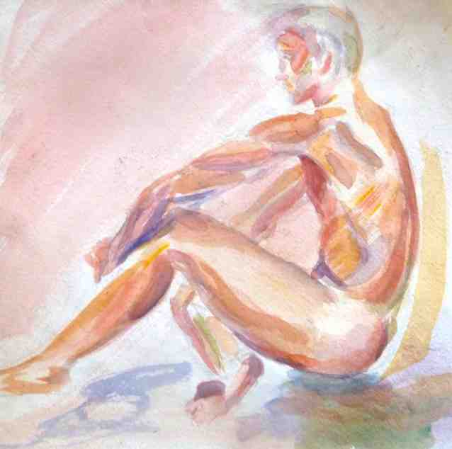 Poised/watercolor
