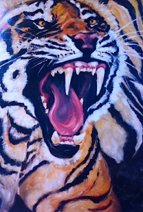 tiger mouth/acrylic