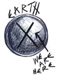 Earth logo for blog