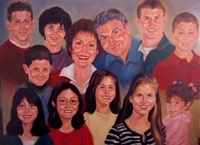 Teeth and grandkids/acrylic