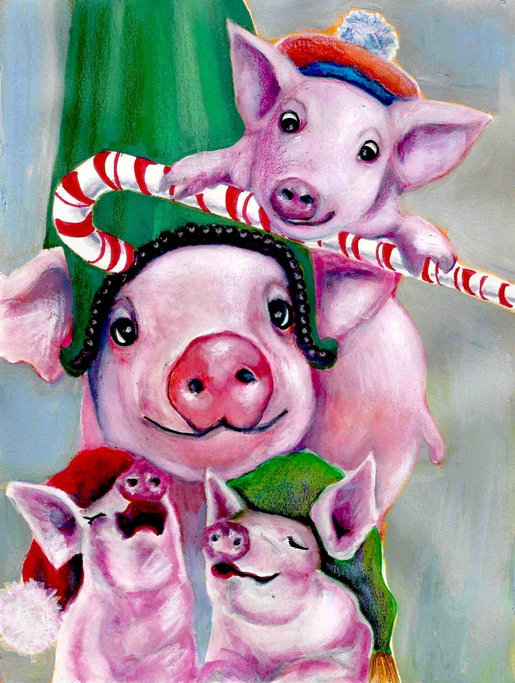 Christmas Pigs.Of Peppermint Pigs And Promises Anntogether